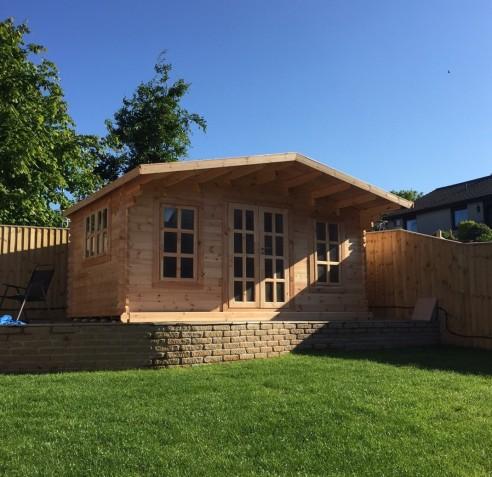 EV York Log Cabin