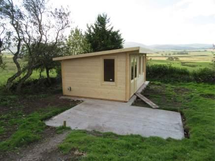 pent roof baruda garden building