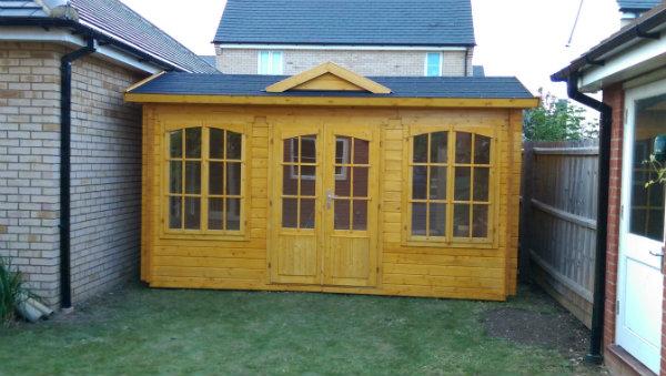 Windsor 44 Log Cabin Customer Photo