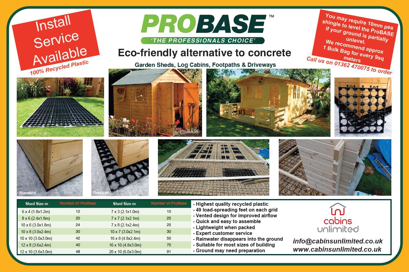 Probase shed and Summerhouse bases from Cabins Unlimited